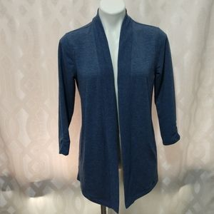 Talbot's 3/4 sleeve blue cardigan with pockets XS